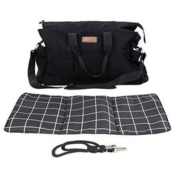 Mountain Buggy Double Satchel Grid, Black/White