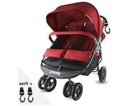 Premium Double Tandem Side By Side Baby Stroller, Umbrella