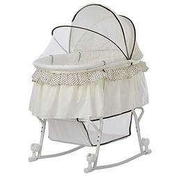 Dream on Me Lacy Portable 2-in-1 Bassinet White