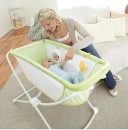 Fisher-Price Rock 'n Play Portable Bassinet Green - NEW IN B