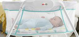 fisher stow n go fbr72 bassinet white