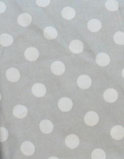 Sheetworld Fitted Bassinet Sheet -  Polka Dots - Grey with W