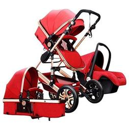 Baby Lightweight Stroller Travel System Bassinet Pushchair F
