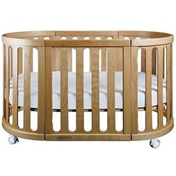 Cocoon Furniture Nest 4-in-1 Crib and Bassinet System in Nat