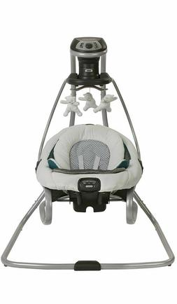 Graco DuetSoothe Baby Swing Rocker Sapphire Removable Infant