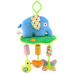 Godr Kid Baby Hanging Bed Strollers Toys with Wind Chime Inf