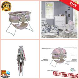 Karley Bassinet, Grey and Pink