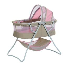 Dream on Me Karley Bassinet - Grey and Pink