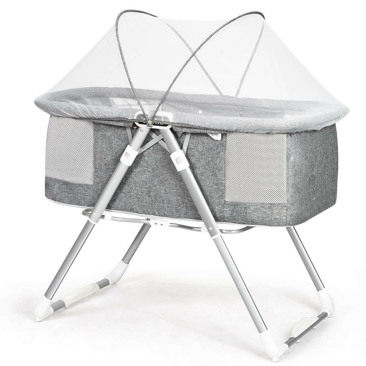 2 in 1 foldable crib with detachable