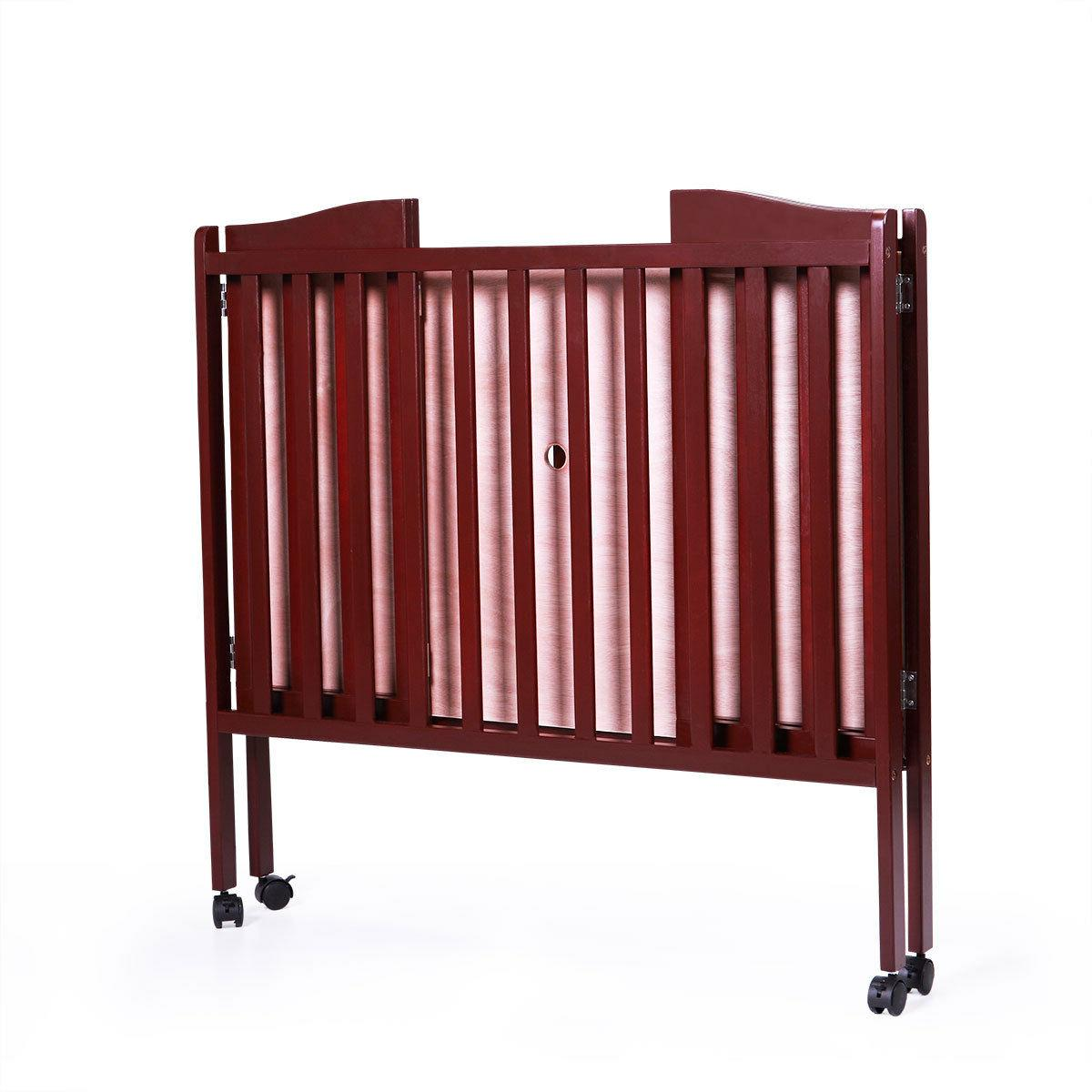 2 Baby Crib Coffee Bed Foldable