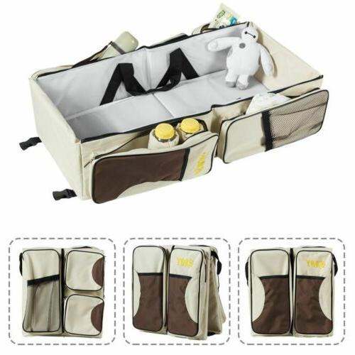 3in 1 Foldable Tote Bag Bassinet Station Carrycot