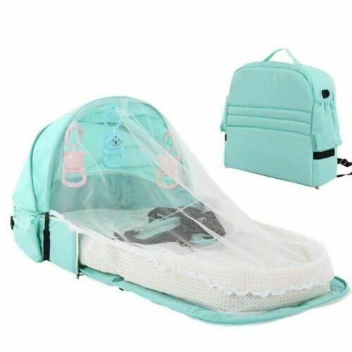 4 in 1 Foldable Baby Crib Infant net 0-20 Month