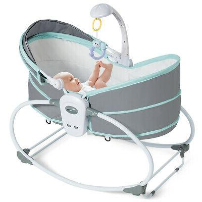 5 in 1 portable baby rocking bassinet