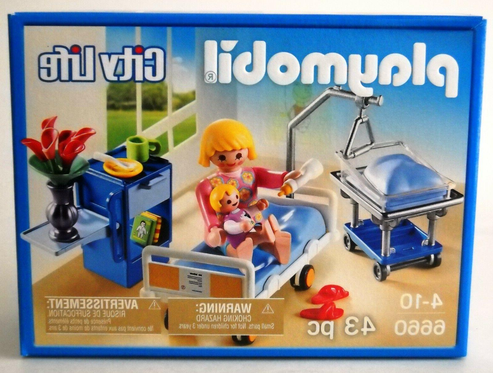 Playmobil 6660~Hospital Maternity Room~City Life~Mother Baby