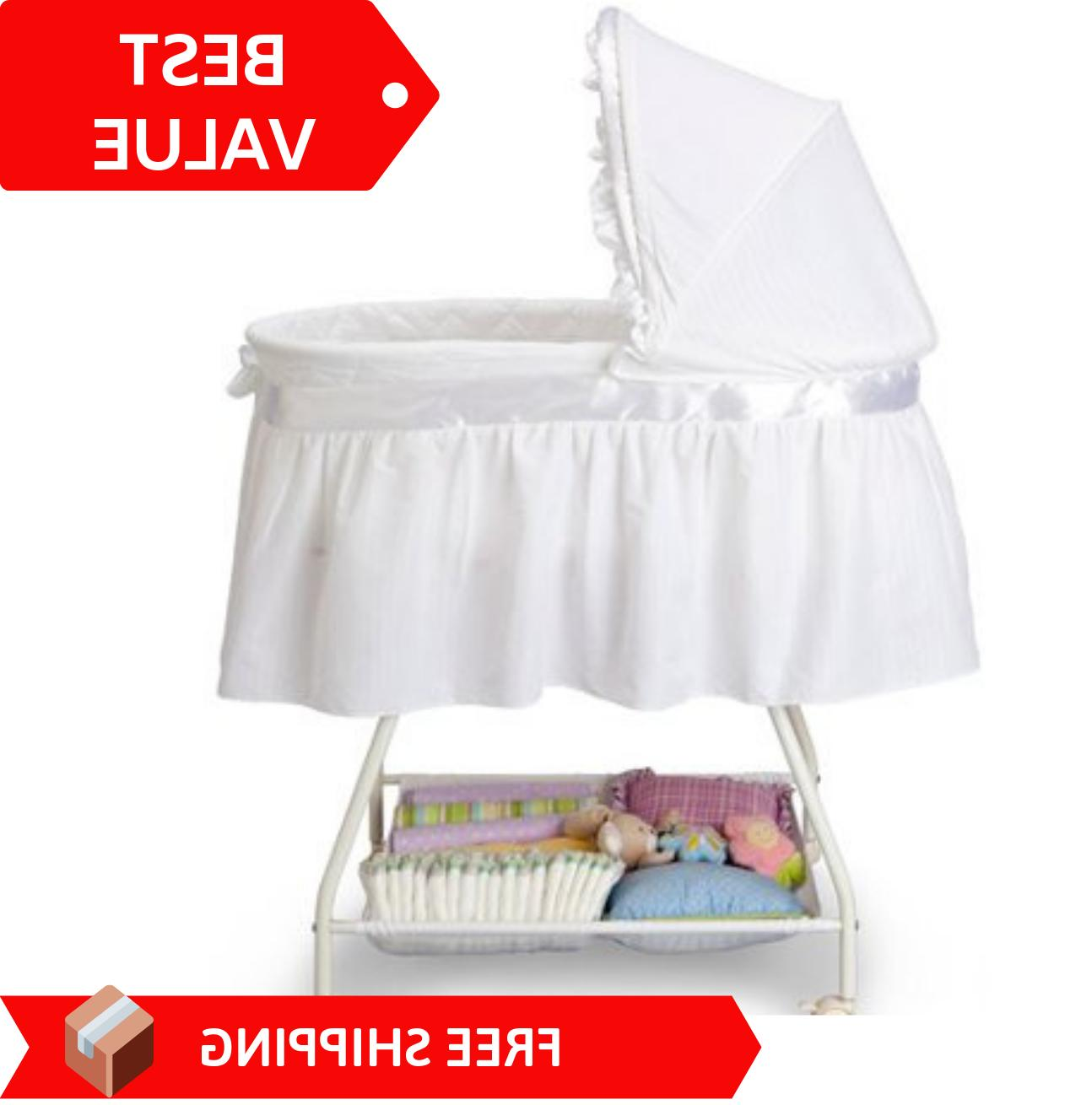 baby bassinet newborn cradle portable white moses