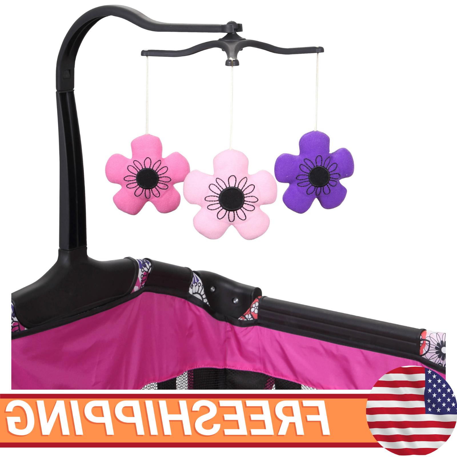 Baby Girl Center Playard Playpen Cradle