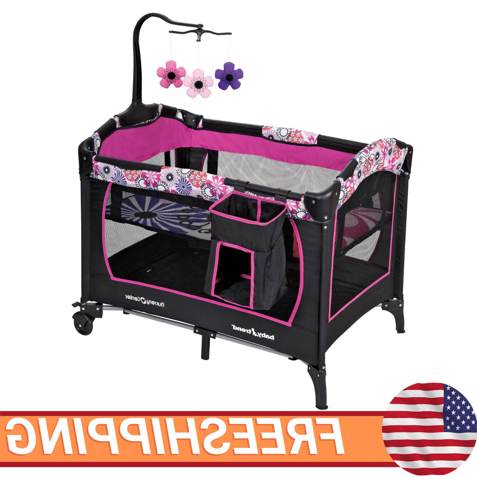 baby girl nursery center playard playpen infant