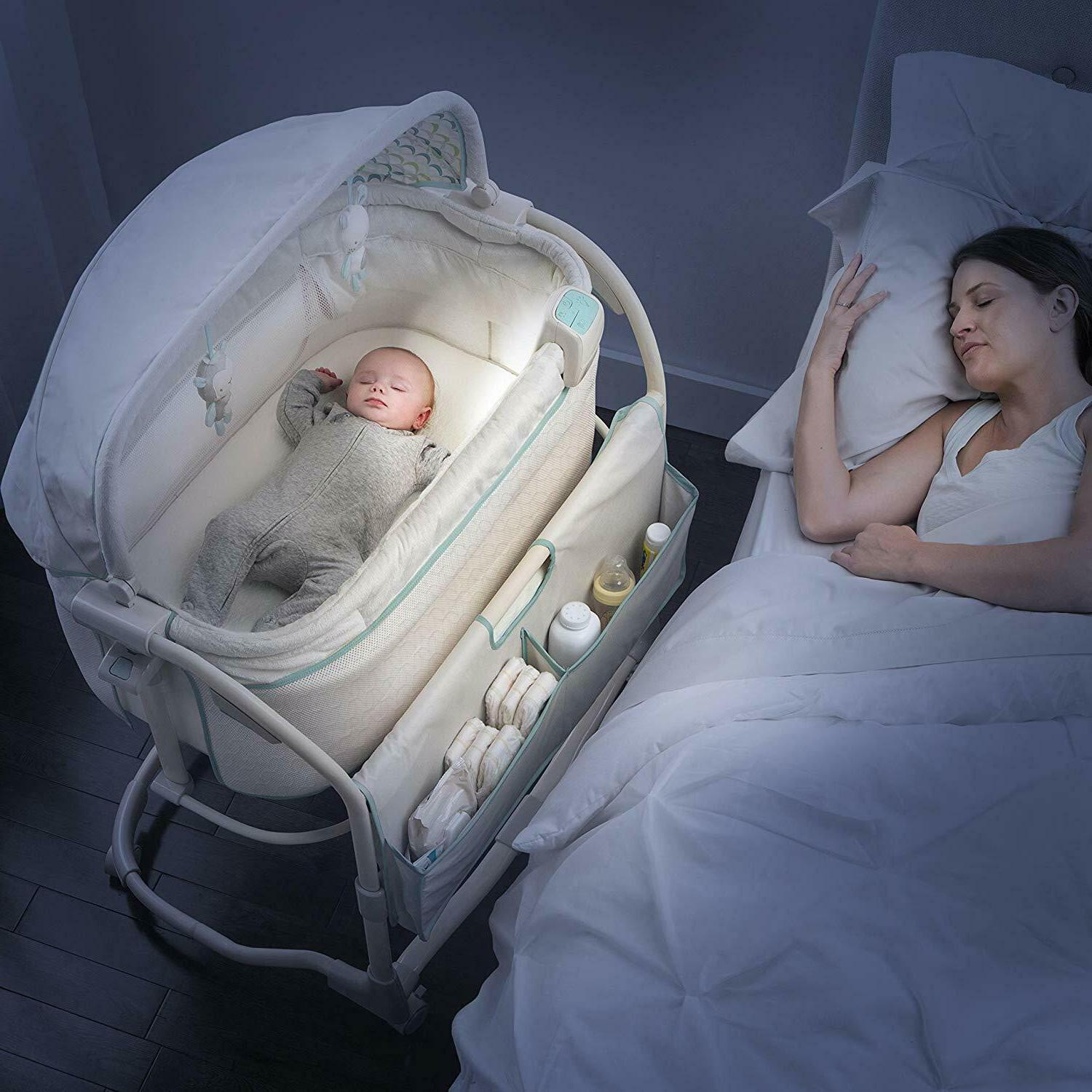Baby Infant Cradle Crib Portable Furniture Lullaby