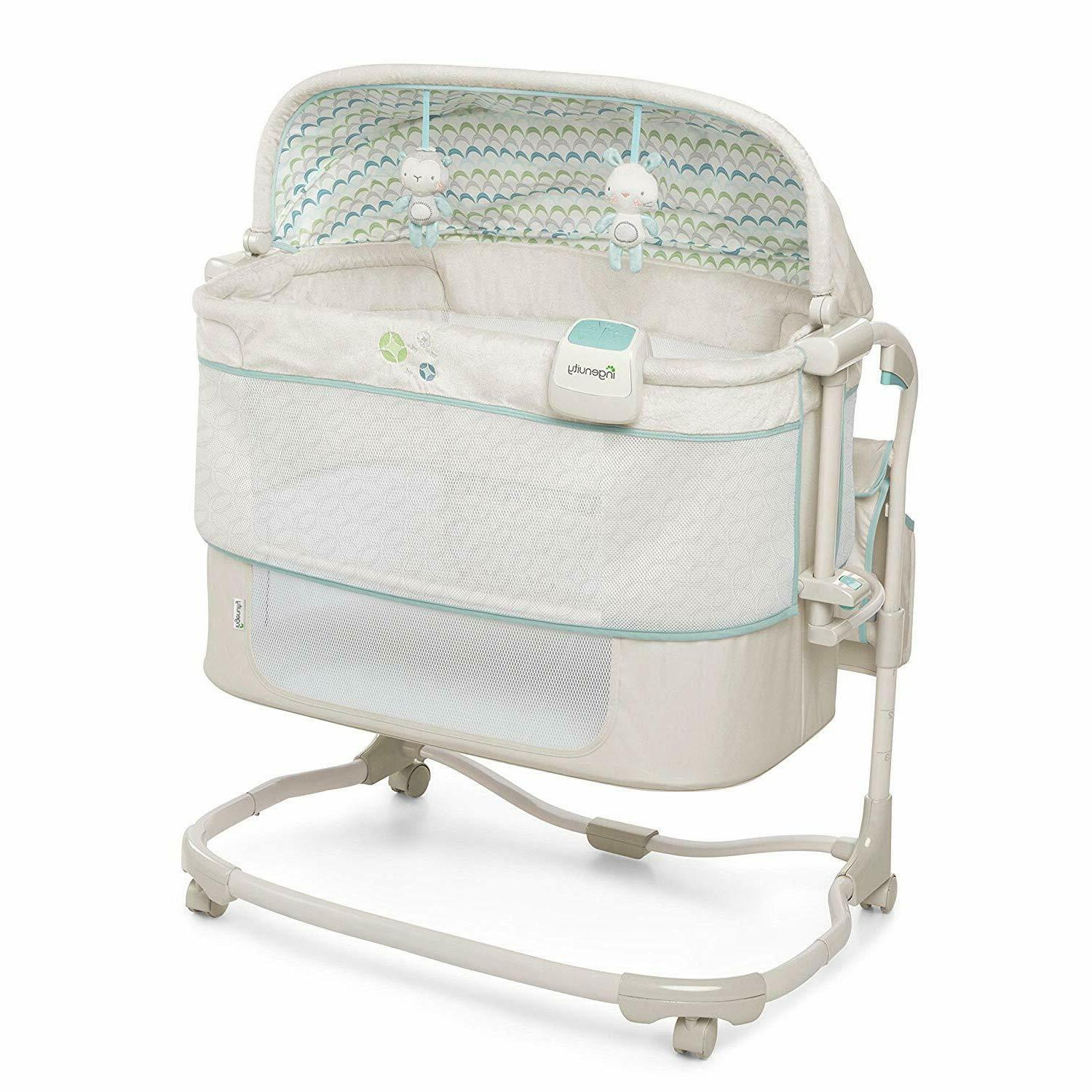 Baby Infant Cradle Crib Portable Nursery Furniture Bed Lullaby