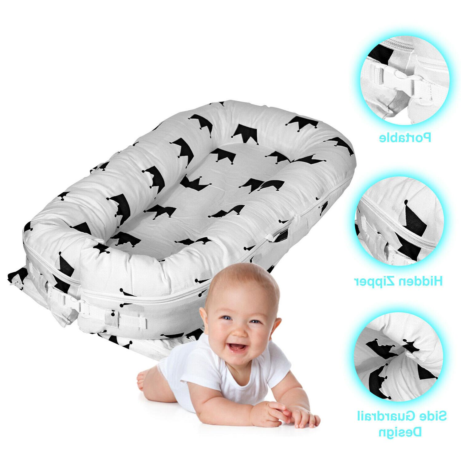 baby lounger nest infant cradle firm sturdy
