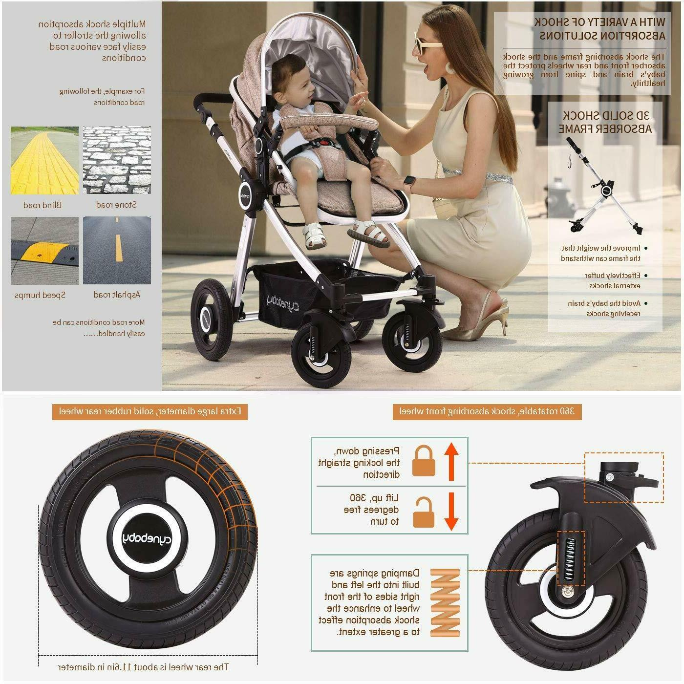 Cynebaby 2 in 1 Infant Pram Single Carriage