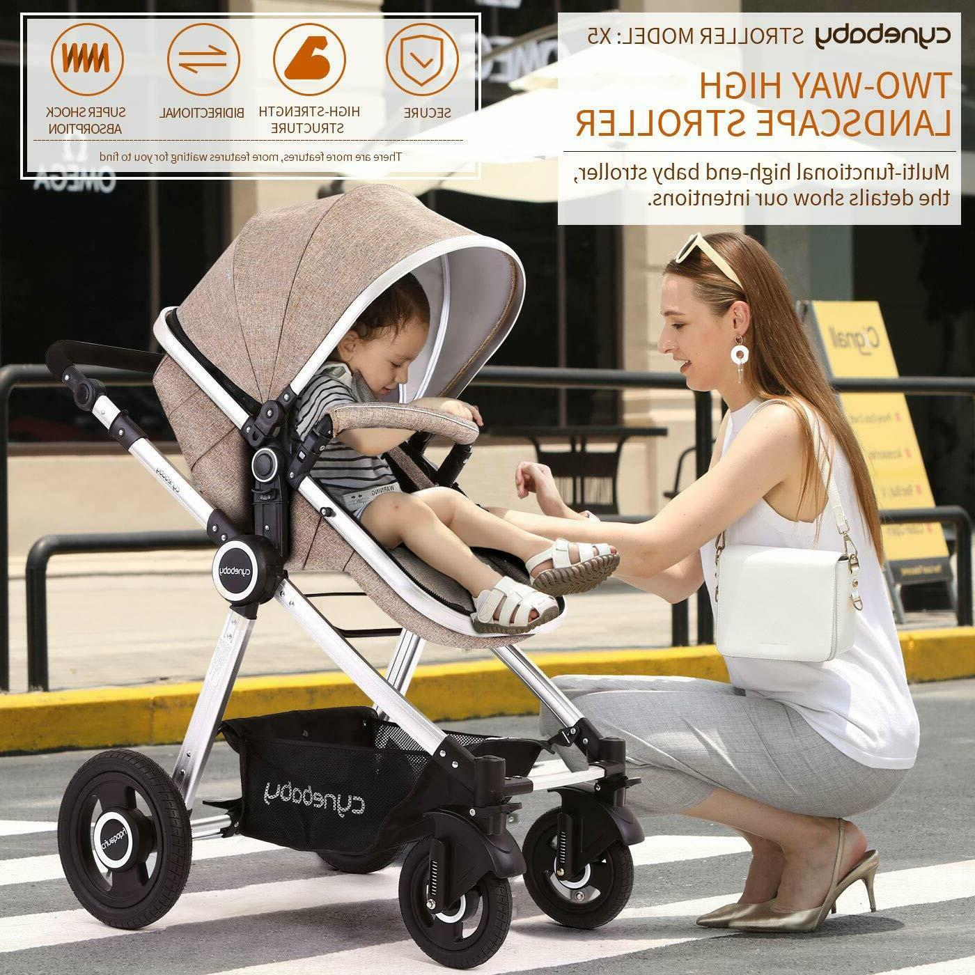 Cynebaby Baby Stroller 2 in 1 Infant Pram Carriage