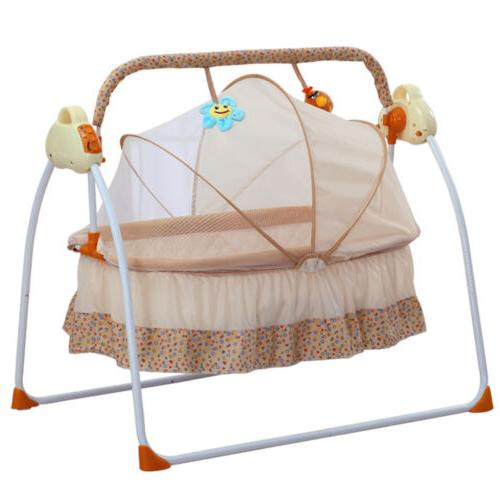 Electric Baby Cradle Swing Sleeping Rocking Basket Bassinet