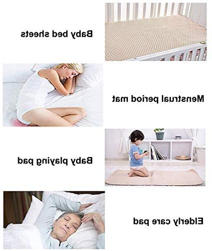 Komica Waterproof Mattress Pad - Reusable Cotton Protective Layers Sheets for Children Size