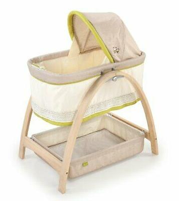 bentwood bassinet with motion baby time