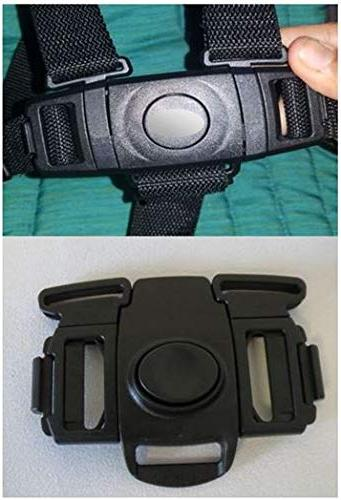 black buckle clip safety harness