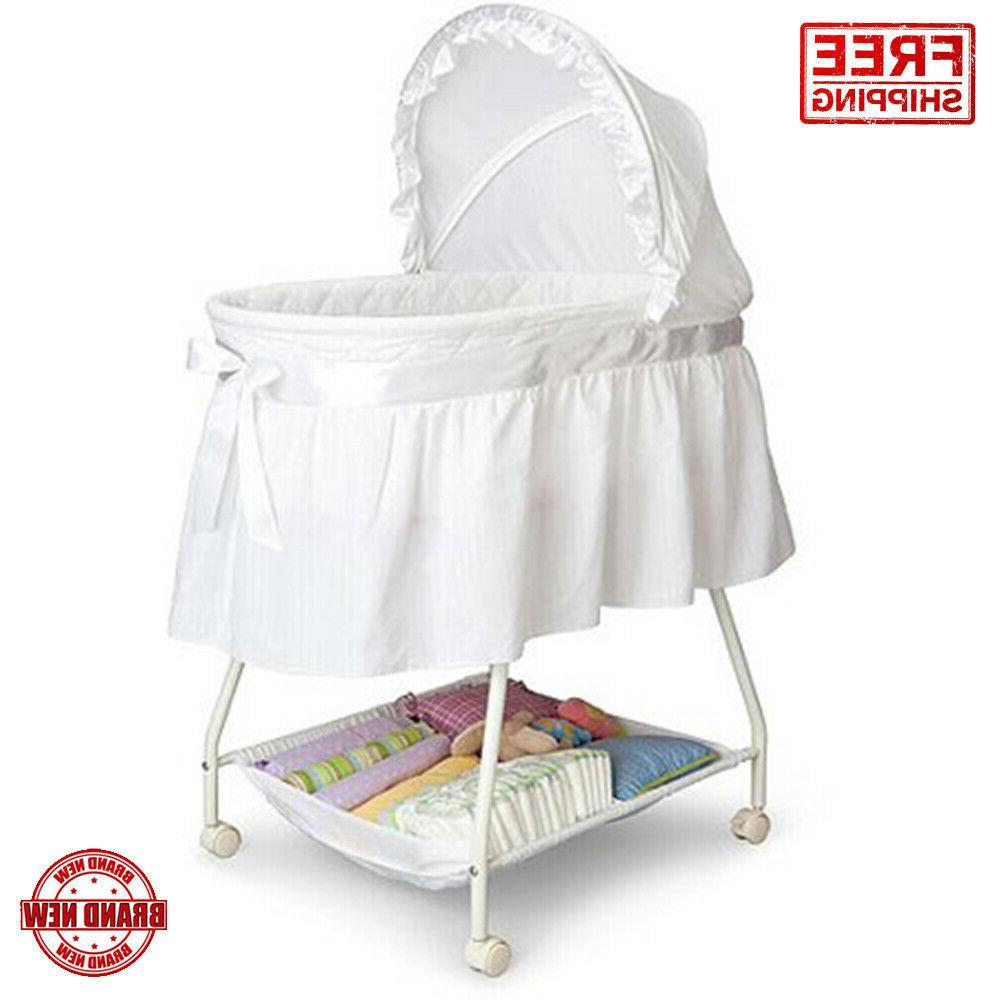 Children Bassinet Adjustable Canopy Baby Infant Newborn Bed