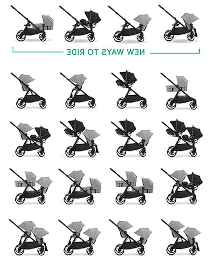 Baby Jogger City Lux Stroller w Second 2017 Taupe