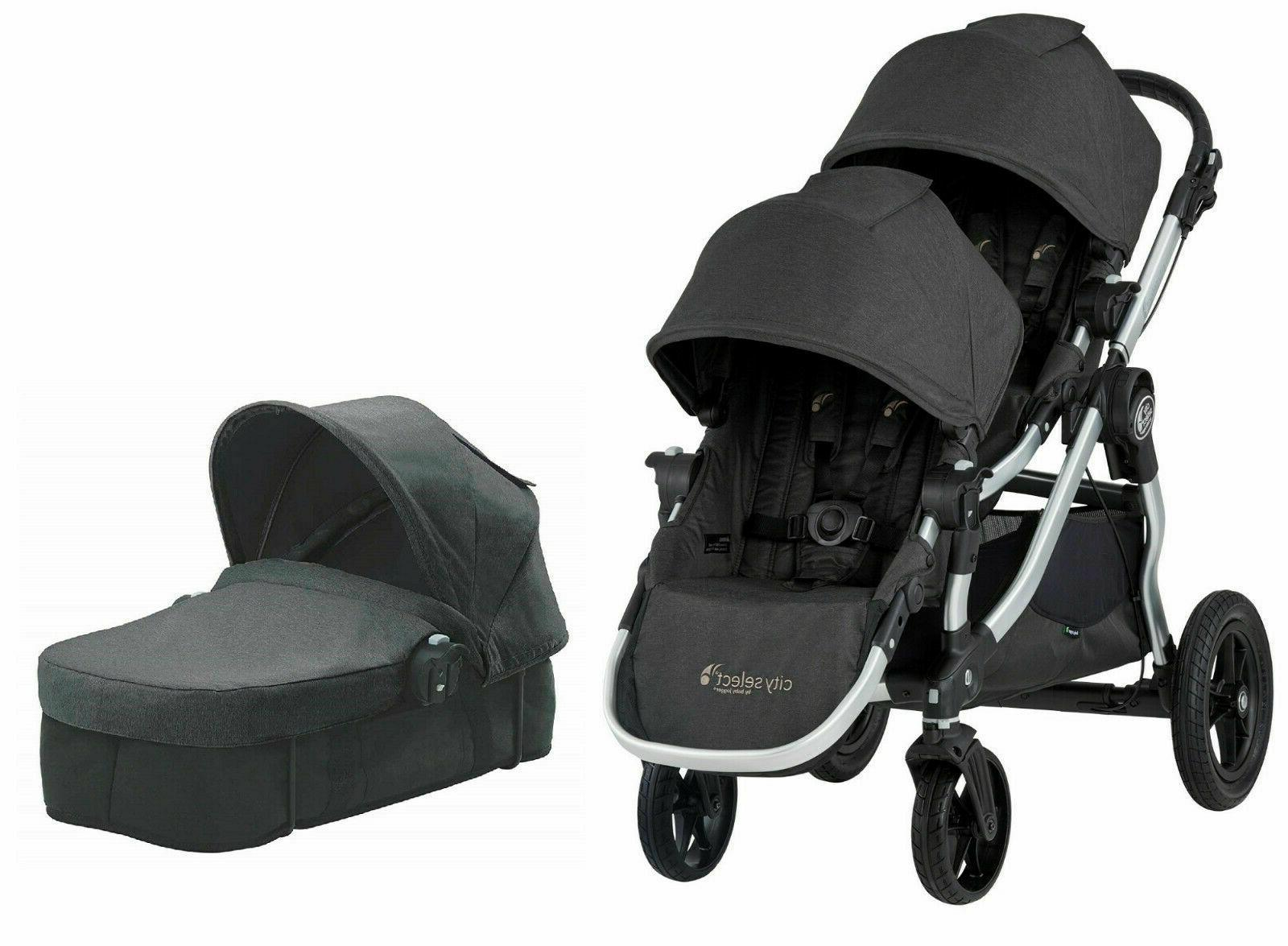 city select twin double stroller jet w