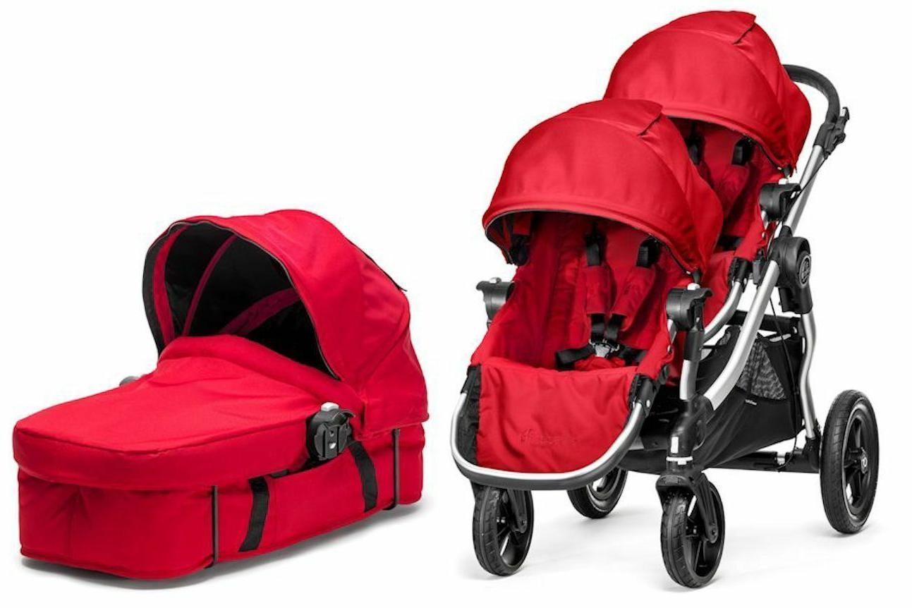 city select twin double stroller ruby