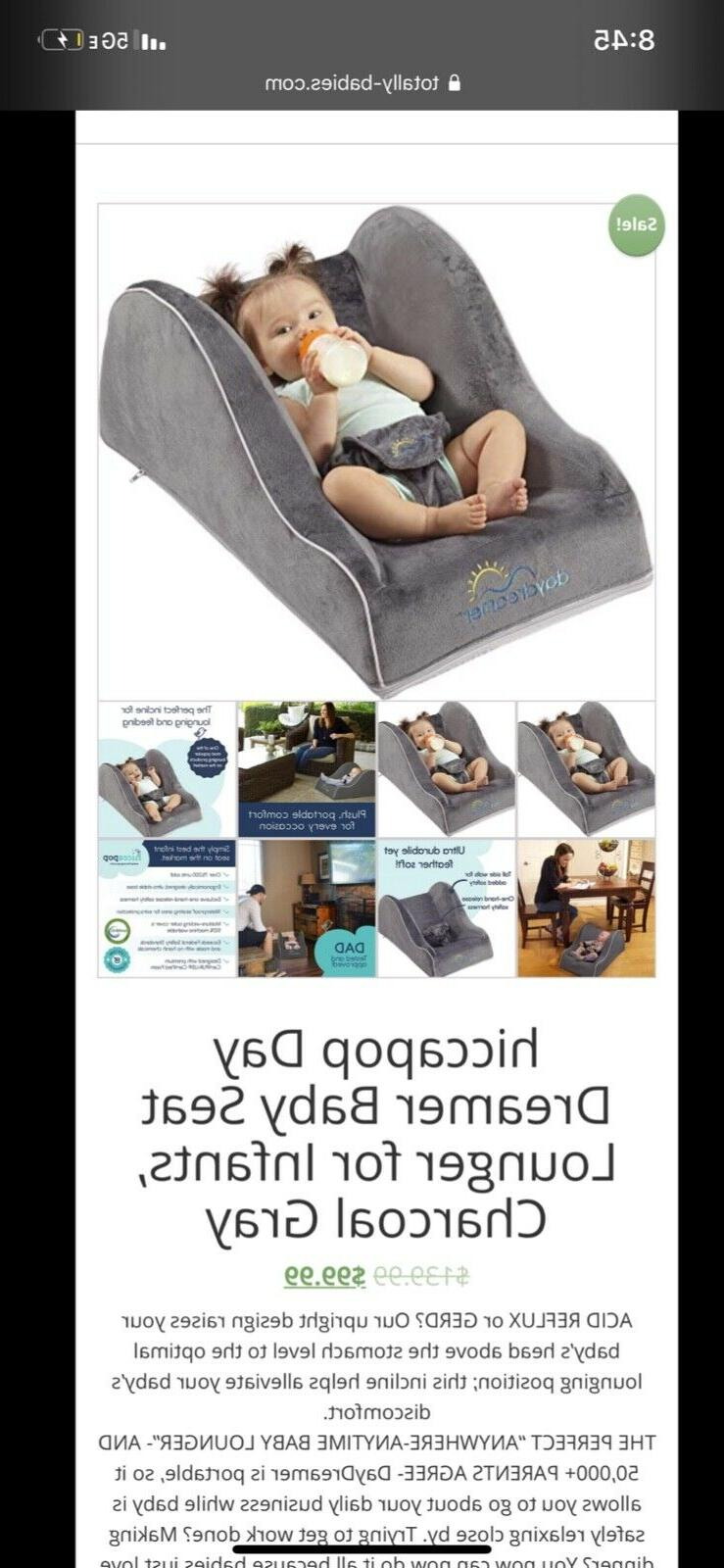 hiccapop Day Dreamer Sleeper Baby Lounger for Infants Travel Bed