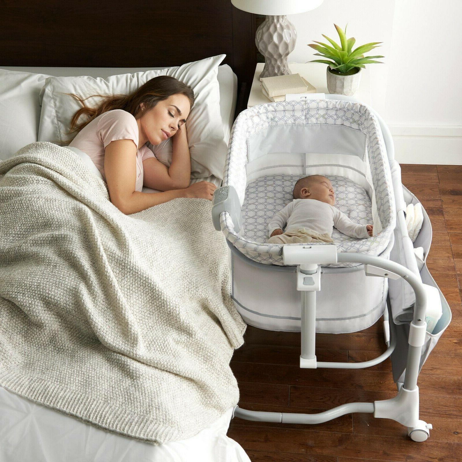 baby infant bedside bassinet cradle crib portable