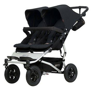 Mountain Buggy Duet Compact All Terrain Twin Baby Double Str