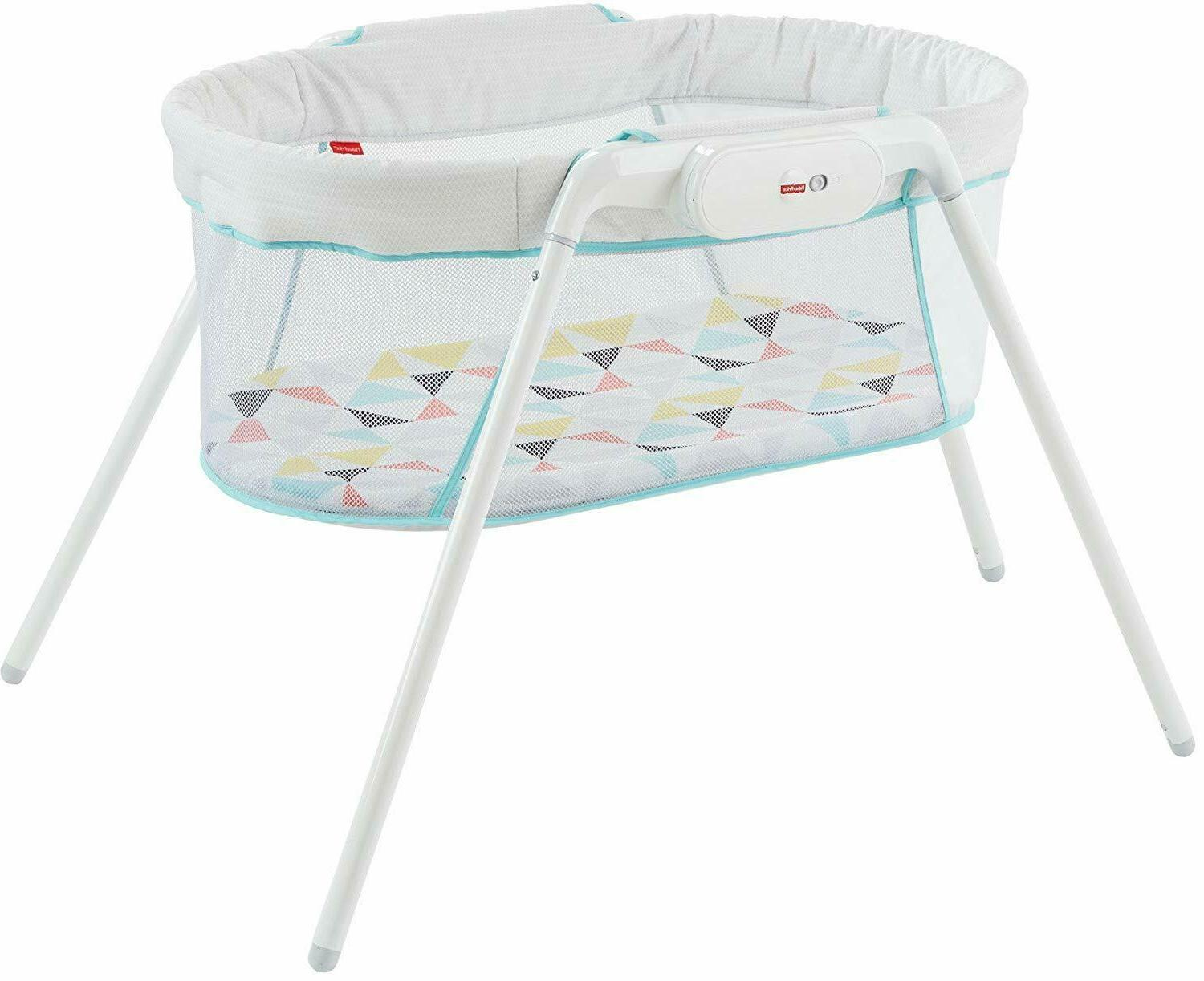 fisher price stow n go bassinet distressed