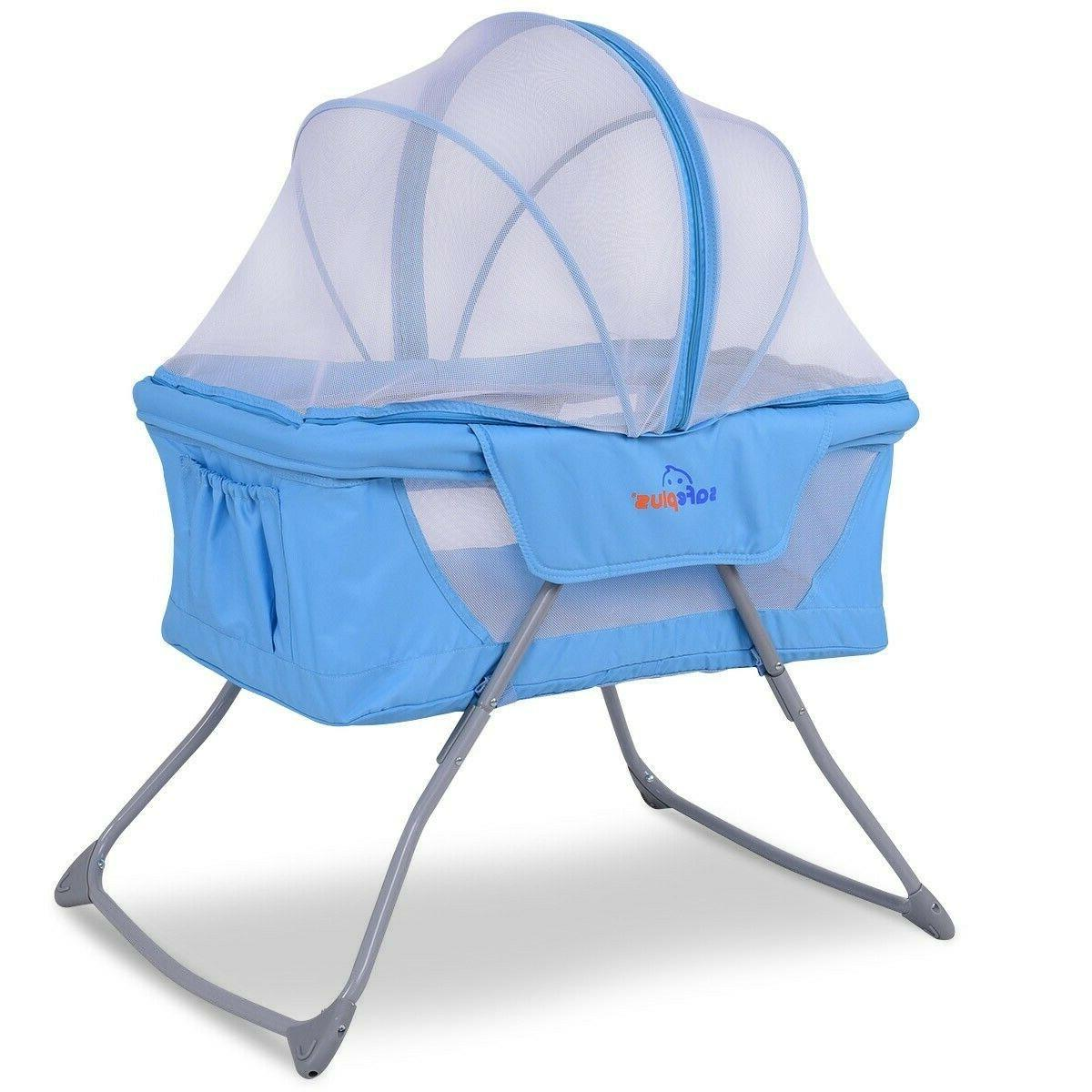 Foldable Lightweight Baby Rocking with Net
