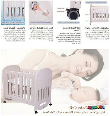 "JOYMOR BPA-Free Crib 2"" Crib Mattress Portable and Easy"