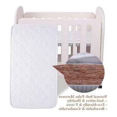 JOYMOR Mini Crib & Mattress and Easy Assembly
