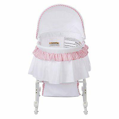 Dream on Me Portable Striped Bassinet and Cradle