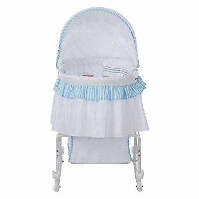 Dream on Lacy Portable 1 Striped Bassinet and Cradle