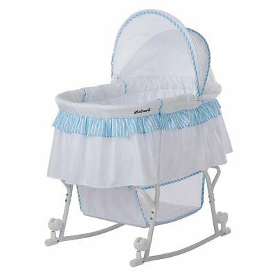 lacy portable 2 in 1 striped bassinet