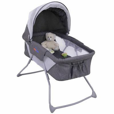 Lightweight Baby Bassinet Rocking with Net