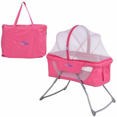 lightweight foldable baby bassinet rocking bed mosquito
