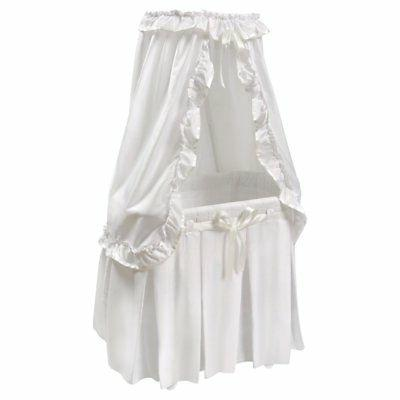 majesty baby bassinet with canopy white bedding