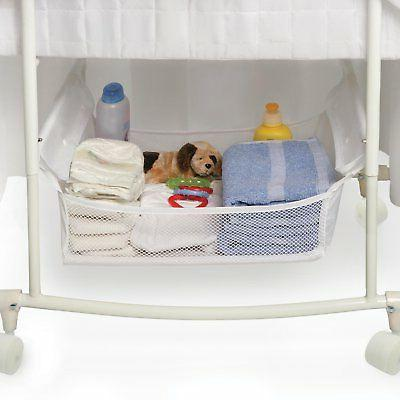 Bassinet with Canopy White Bedding