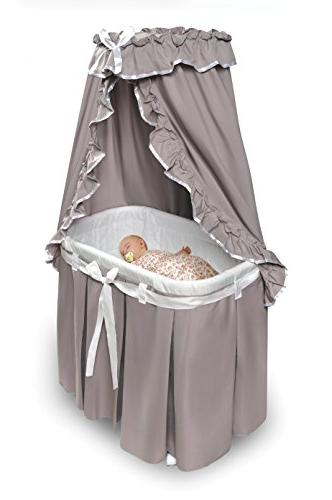 Bassinet Canopy, and White Bedding