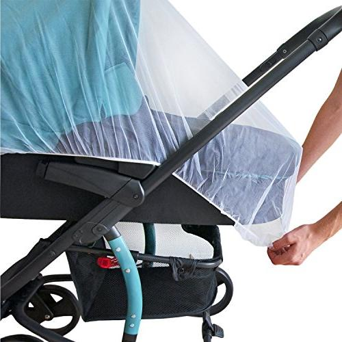 Baby Mosquito Stroller, Car Seat Bassinet Bug Jogger, Carrier Pack N Shield Canopy & Gift Packaging